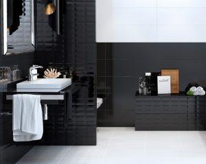 Црно-бело купатило – креирајте Вашу комбинацију