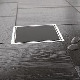 Slivnik Dry 1 crno staklo 100×100