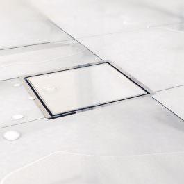 Slivnik Dry 1 belo staklo 100×100