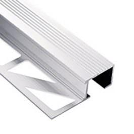 Lajsna za stepenište puna 10mm srebro mat