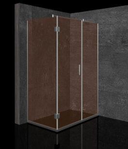 Tuš kabina Bronza 120×80 hrom/bronza – desna