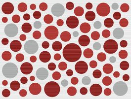Inserto Ramona Rosso Bubbles 25×33