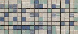 Mozaik Trama Aqua-Azul-Blanko 20X45