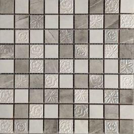 Mozaik Mermer Siva-Bela 25X25