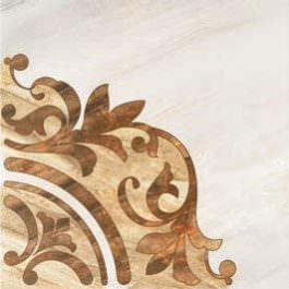 Rosone Ornament Mat Gray 45×45