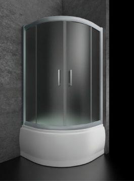 Tuš kabina Bella R80 hrom/prozirna