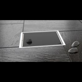 Slivnik Confluo Standard crno staklo 150×150