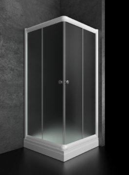 Tuš kabina Bjanka 80×80 plitka bela/mat