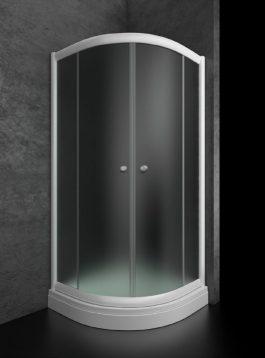 Tuš kabina Bjanka R80 plitka belo/mat