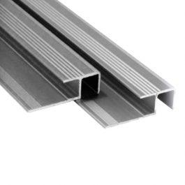 Lajsna za stepenište 10mm srebro mat