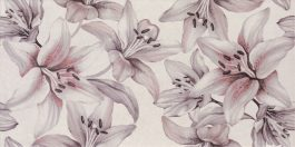 Porto Light Gray Flower 25×50