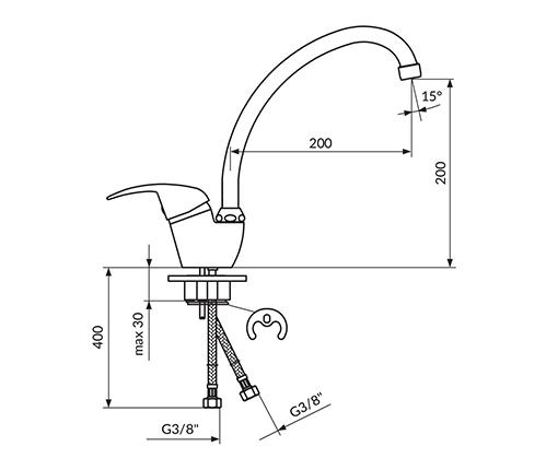 J382101 Tc Sudopera 2 Cevi Izliv 200mm