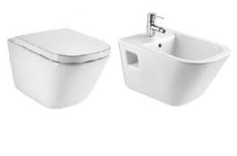 The Gap rimless konzolna WC šolja sa SS daskom + konzolni bide