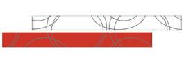 Listela Ramona Rosso Glass 5×25